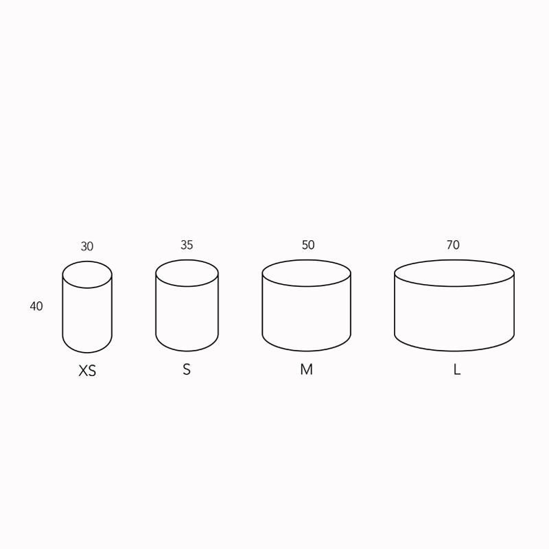 circus sidetables dimensions
